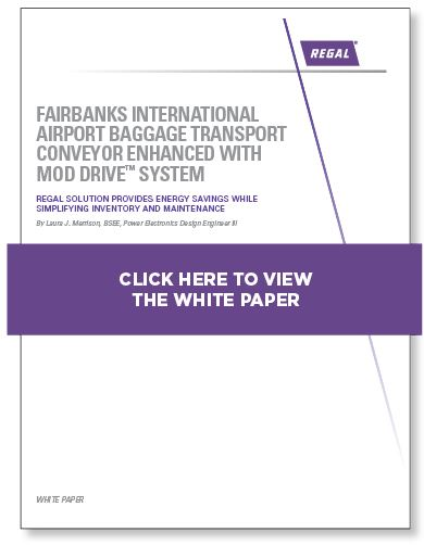 Fairbanks International Airport Baggage Transport Conveyor Enhanced With Mod Drive™ System